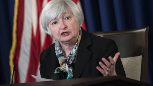 US Federal Reserve Chair Janet L. Yellen.