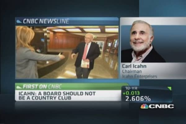 Icahn: We are not disservice on boards