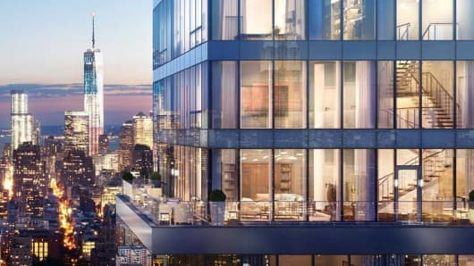 A rendering of a Penthouse at One Madison Ave.