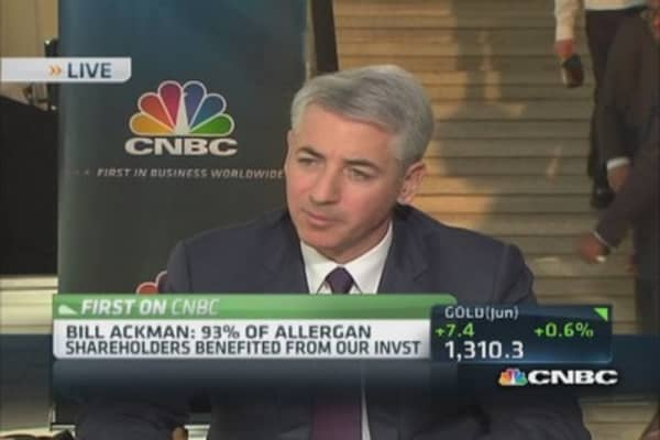 Ackman: Allergan, Valeant merger economically right thing to do