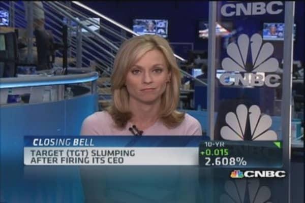 Target slumps after CEO firing