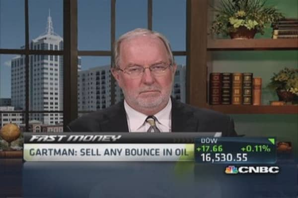 Gartman: Crude oil prices in trouble, prefer coal