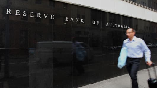 Reserve Bank of Australia (RBA) headquarters in the central business district of Sydney, Australia.