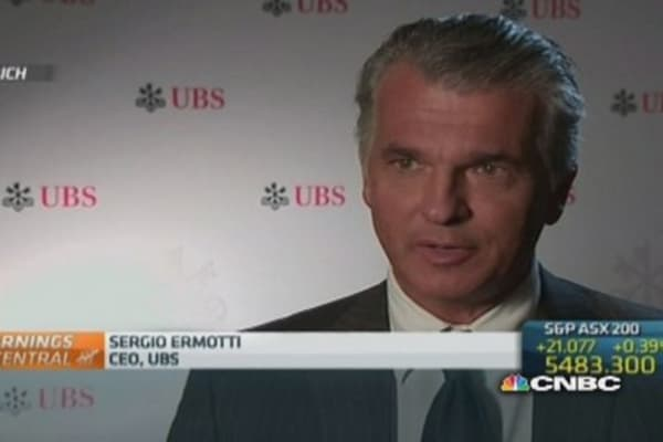 UBS to return 'excess capital' to shareholders: CEO