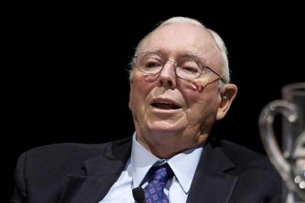 Charles Munger, vice chairman of Berkshire Hathaway Inc.