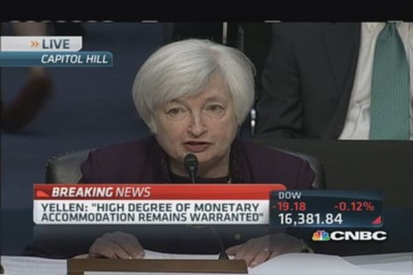 Yellen cautions on housing activity