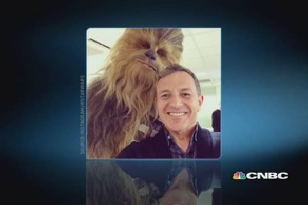Bob Iger's selfie with Chewbacca