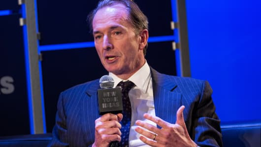 CEO of Morgan Stanley James Gorman speaks on May 6, 2014 in New York.