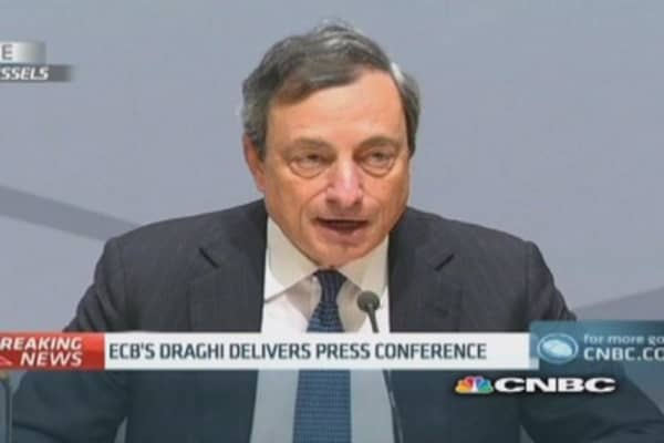 ECB will 'act swiftly if required: Draghi