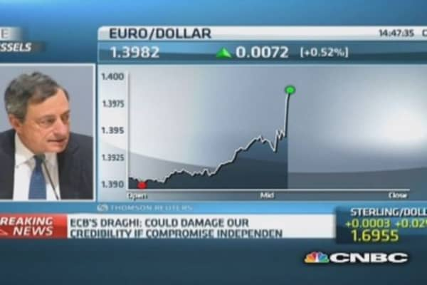 Strong euro can be 'serious concern': Draghi