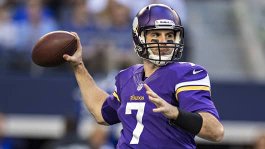 Christian Ponder #7 of the Minnesota Vikings.