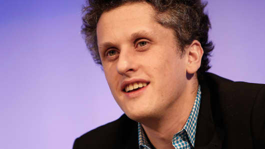 Aaron Levie, co-founder and chief executive officer at Box Inc., speaks in Los Angeles, Feb. 19, 2014.