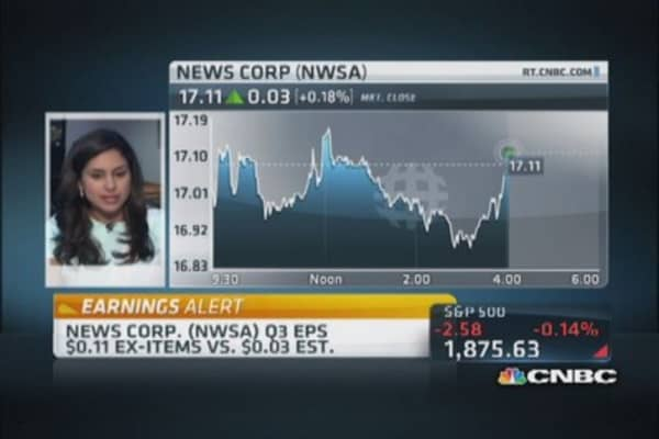 News Corp. reports earnings beat