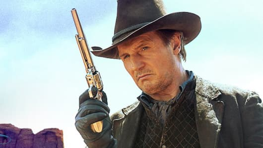 "Still from movie, ""A Million Ways to Die in the West."""