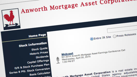Anworth Mortgage Asset Corporation website