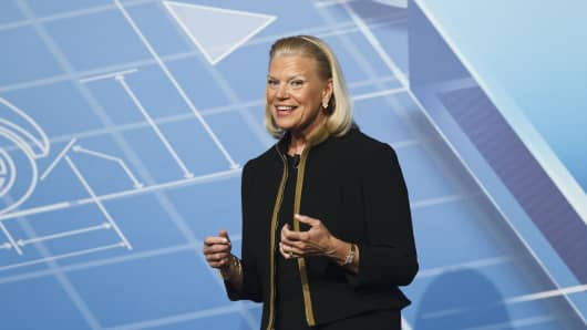 Virginia 'Ginni' Rometty, chief executive officer of International Business Machines Corp.