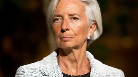 Christine Lagarde, International Monetary Fund Managing Director, April 30, 2014 in Washington.