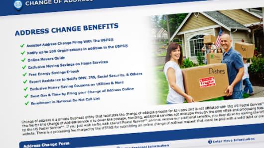 Change-of-address.us website