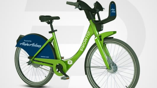 Seattle's bike-share program will roll out in September with help from a $2.5 million sponsorship from Alaska Airlines.