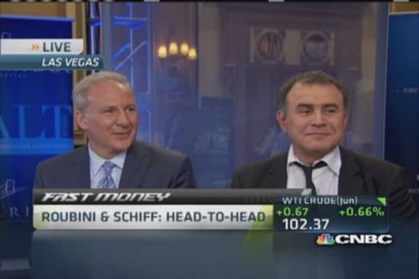 Roubini and Schiff mano-a-mano