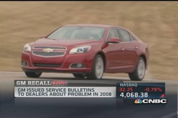 General Motors recall tab