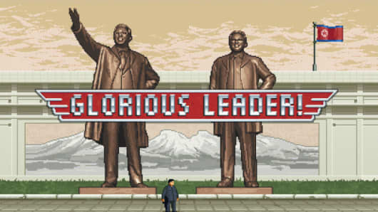 Screen from Glorious Leader video game by Moneyhorse
