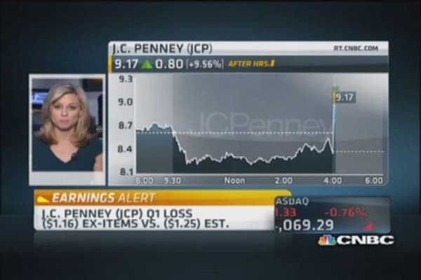 JCP beats on top and bottom line