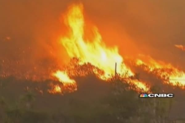 Wildfires continue to torch California