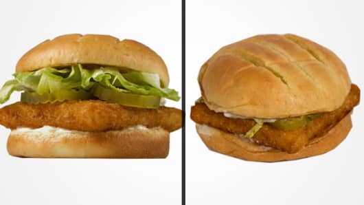 Burger King's Big Fish sandwich.