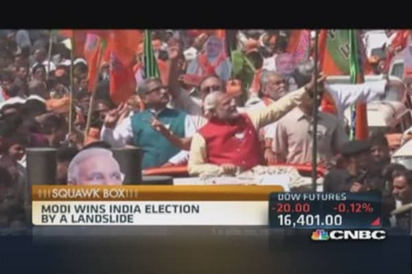 Modi wins India's election in a landslide