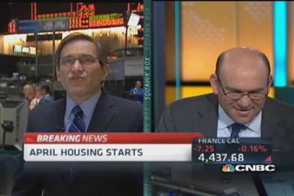 April housing starts up 13.2%