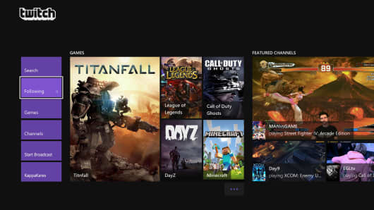 This image provided by Microsoft/Twitch, shows a screenshot of a video game being broadcast from the updated Twitch app for Xbox One. The popular video gamebroadcasting service Twitch is bringing a slew of fresh features to Microsoft's newest console.