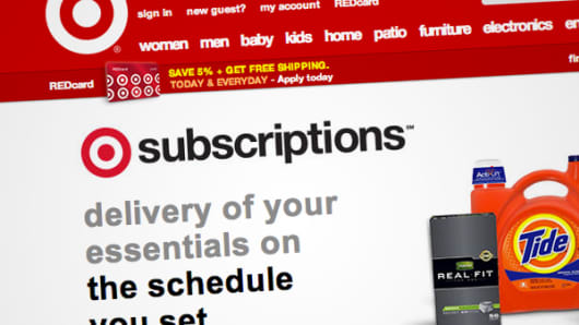 Target Subscriptions web page