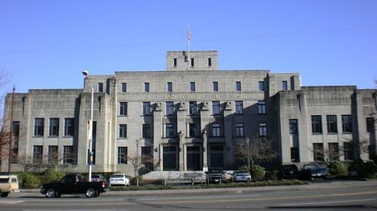 The Thurston County Courthouse in Olympia, Washington.