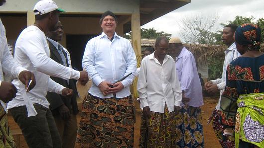 Bruce Wrobel in Guinea.