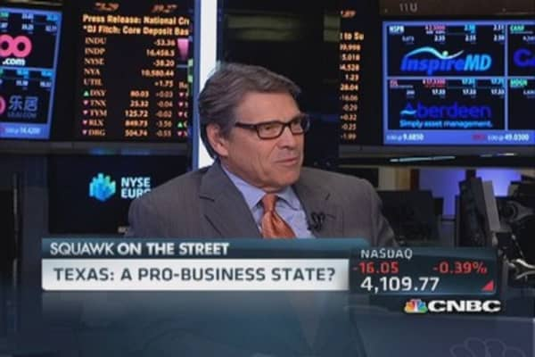 Gov. Rick Perry: Washington doesn't understand biz competition