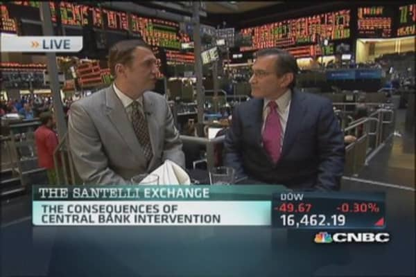 Santelli Exchange: Consequences of intervention