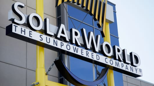 SolarWorld's manufacturing plant in Hillsboro, Oregon.