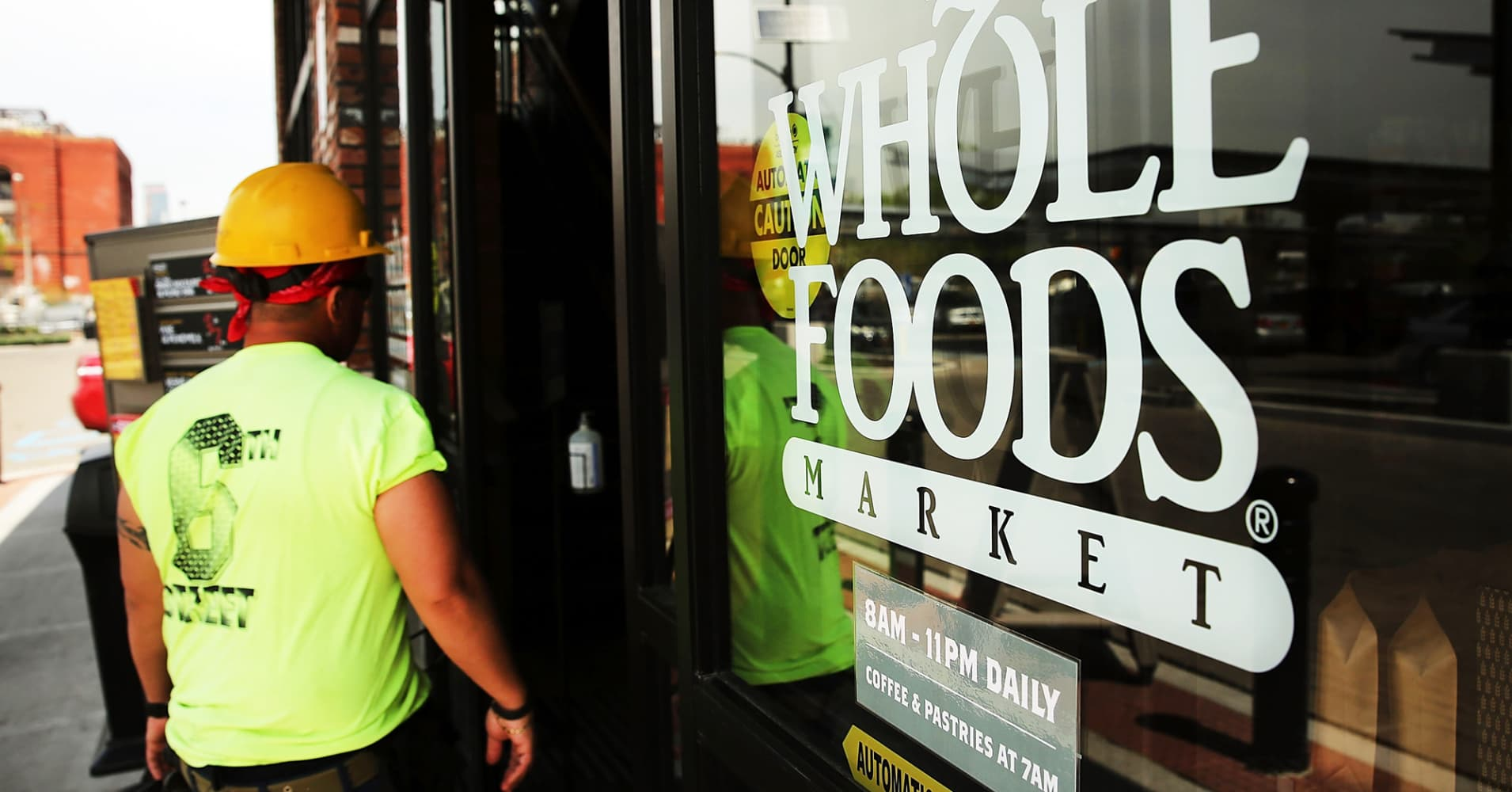 Whole Foods shares pop on report of Albertsons' interest