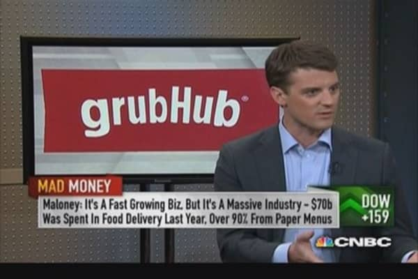 GrubHub CEO: Competitor is paper menu