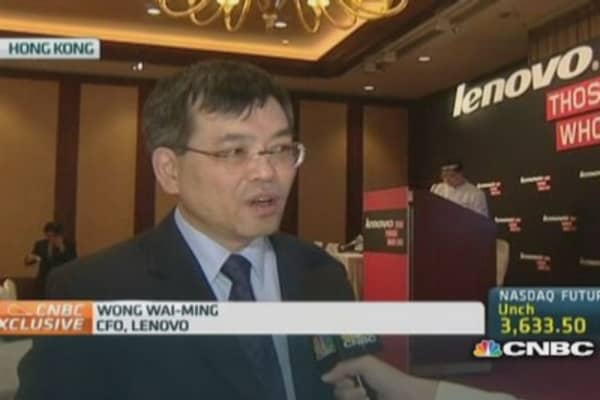 Lenovo CFO: Seeing more growth outside China