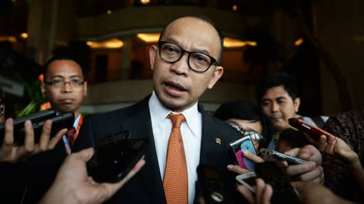 Indonesia Finance Minister Chatib Basri Speaks At OECD Forum