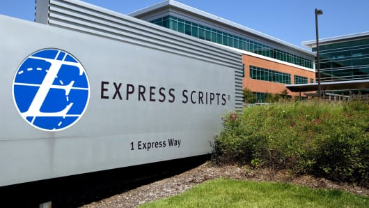 Express Scripts headquarters in St. Louis.