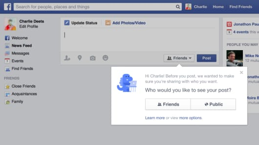 New Facebook privacy alert
