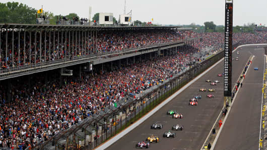 Indianapolis Motor Speedway during the Indianapolis 500