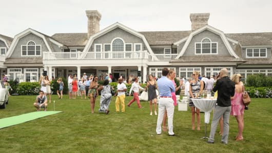A Brunch With Bentley event held at Beechnut Hill Farm, built by Jeffrey Collé, in Southampton, NY.