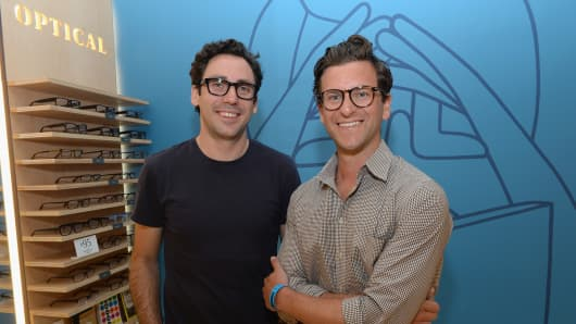 Neil Blumenthal (left) and David Gilboa, co-founders of Warby Parker