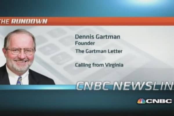 'Wrong to have expected a correction': Gartman