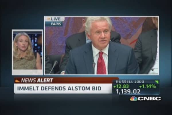 GE CEO Immelt speaks before French Parliament