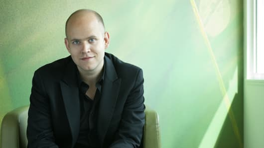 Daniel Ek, CEO of Spotify.